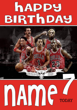 Personalised Chicago Bulls Birthday Card 2