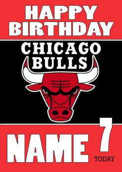 Personalised Chicago Bulls Birthday Card 3