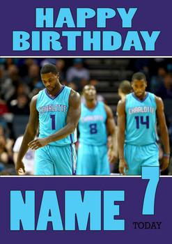 Personalised Charlotte Hornets Birthday Card