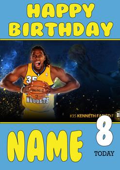 Personalised Denver Nuggets Birthday Card
