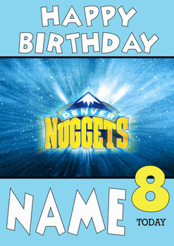 Personalised Denver Nuggets Birthday Card 2