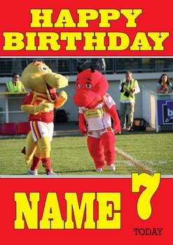 Personalised Catalan Dragons Birthday Card 2