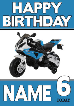 Personalised Bmw Bike Birthday Card