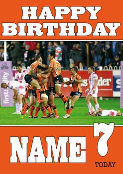 Castleford Tigers 2 Birthday Card