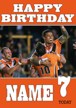 Castleford Tigers 3 Birthday Card