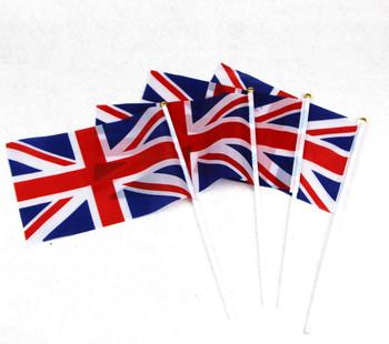 30 Union Jack Flags On Sticks