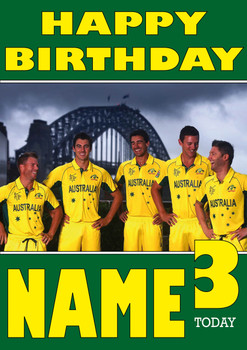 Australian Cricket Team Personalised Card 2