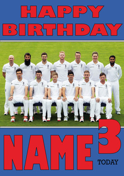 England Team Personalised Card