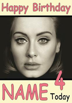 Adele Personalised Birthday Card