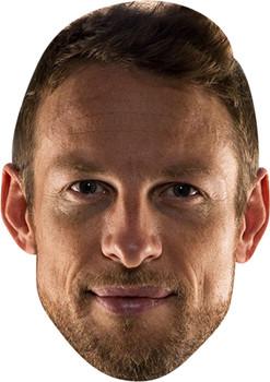 Jenson Button Celebrity Face Mask