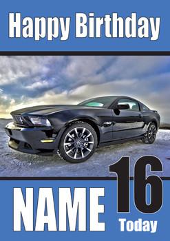 Happy Birthday Ford Mustang5.0 Cars