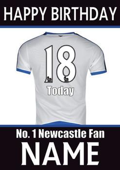 Newcastle Fan Happy Birthday Football