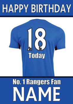 Rangers Fan Happy Birthday Football
