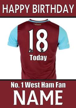 West Ham Fan Happy Birthday Football