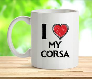 I Love My Corsa Mug