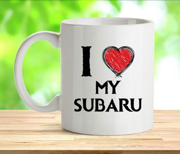 I Love My Subaru Mug