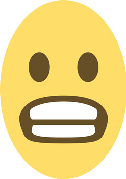 Anxious Emoji Facemask Suitable For Adults And Kids
