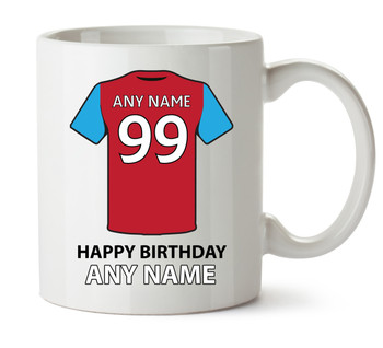 Aston Villa Football Team Personalised Printed Mug