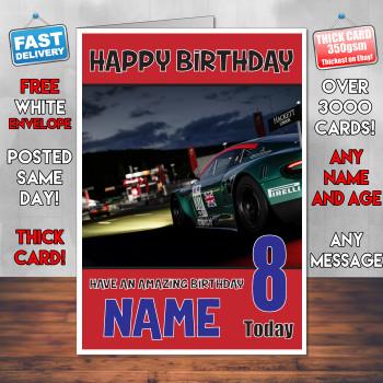 Froza Motor Sport Bm1 Personalised Birthday Card