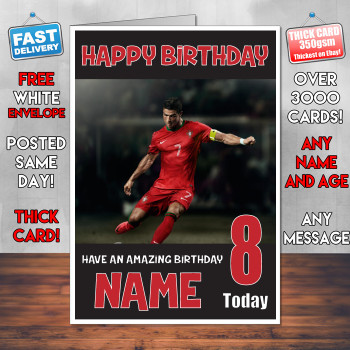 Ronaldo Bm2 Personalised Birthday Card Celebrity Facemasks