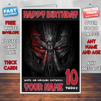 Age Of Extinction Bm2 Personalised Birthday Card