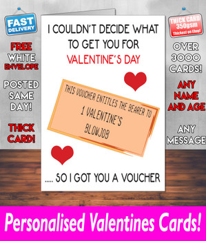 Blow Job Voucher Valentines Day Card