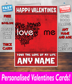 His Or Hers Valentines Day Card KE Design109 Valentines Day Card