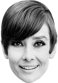 Audrey Hepburn B&W Celebrity Face Mask