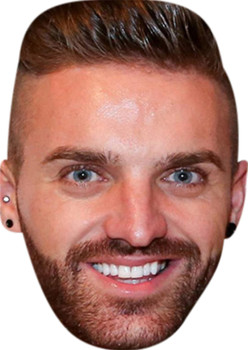 Gaz Geordie Shire Smiling Celebrity Party Face Mask