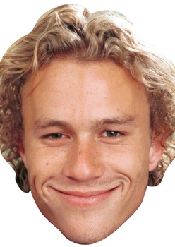 Young Heath Ledger Celebrity Party Face Mask