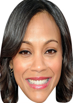 Zoe Saldana Smiling Celebrity Party Face Mask