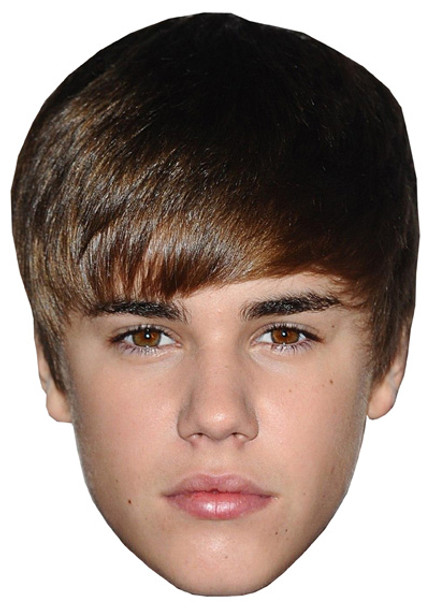Young Justin Bieber Celebrity Face Mask