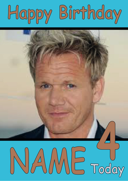 Gordon Ramsey Personalised Birthday Card Celebrity Facemasks