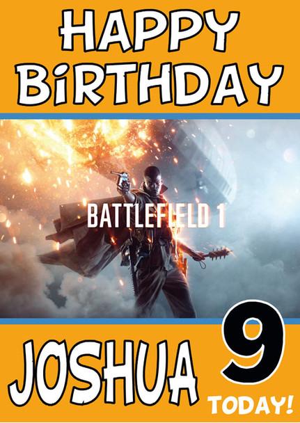 Battlefiled 1 Birthday Card