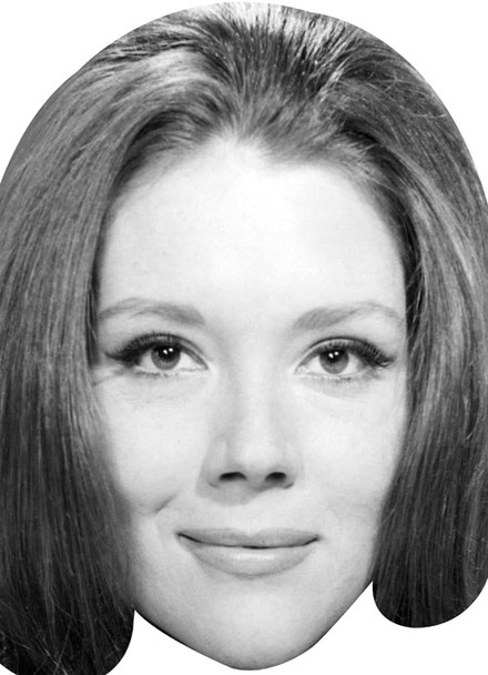 Diana Rigg James Bond Wife Celebrity Face Mask