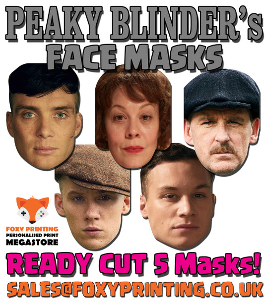 Peaky Blinders Facemasks PACK Tv Celebrity Face Mask