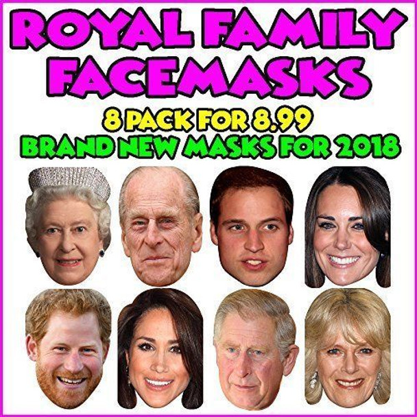 Royal Family Mask Pack - Party Photo Masks x all 8