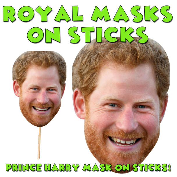 Prince Harry Stag Doo on a STICKRoyal Celebrity Face Mask