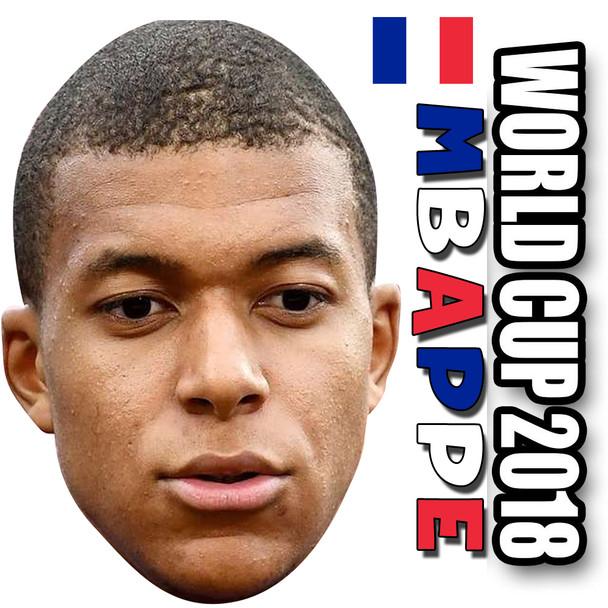Kylian Mbappe - FRANCE Football World Cup 2018 Face Mask