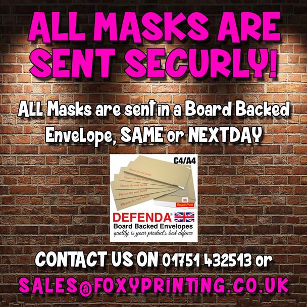 Terry Jenkins Ally Pally Darts Face Mask
