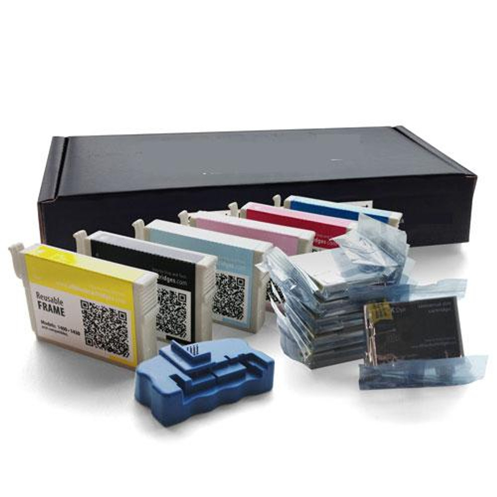 Mega Black Epson 1400/1430 Refillable Cartridge Kit