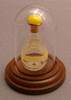 Pale Yellow Tear Bottle - pictured with Optional Short Mini Dome - Sold Separately