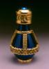 Gold Banded Blue Roma Tear Bottle