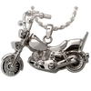 Motorcycle - Sterling Silver with Sterling Silver Rope Chain - Sold Separately