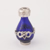 Infinite Love Tear Bottle - Silver and Blue Glass