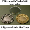 "2"" Mirror and Solid and Filigree Tear Bottle Trays"