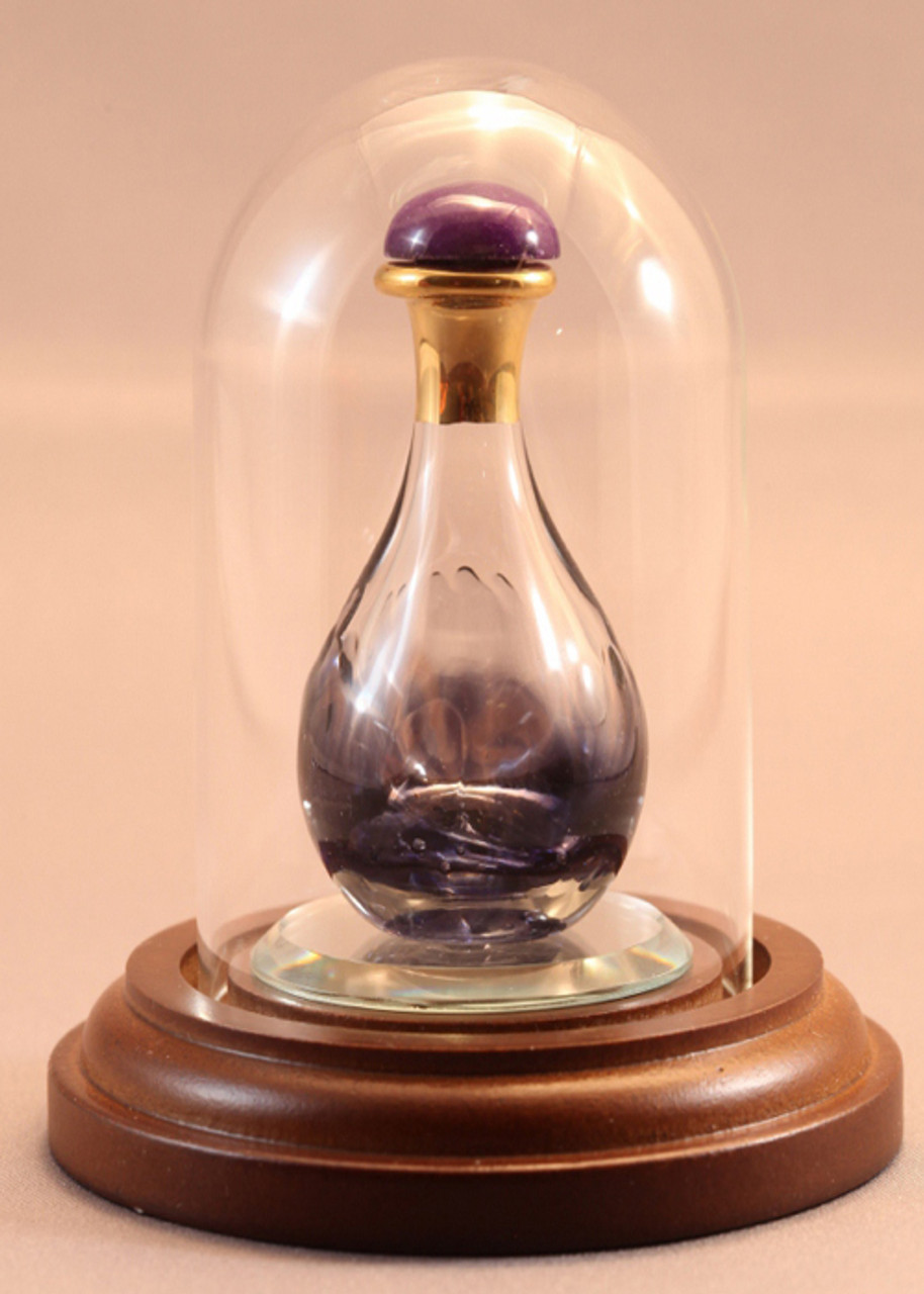 Violet Marble Contemporary Tear Bottle - pictured with Short Mini Dome - Sold Separately