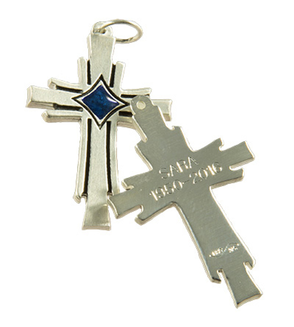 Phoenix Cross with Back Engraving