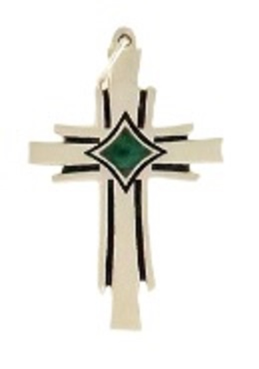Large Phoenix Cross with Green