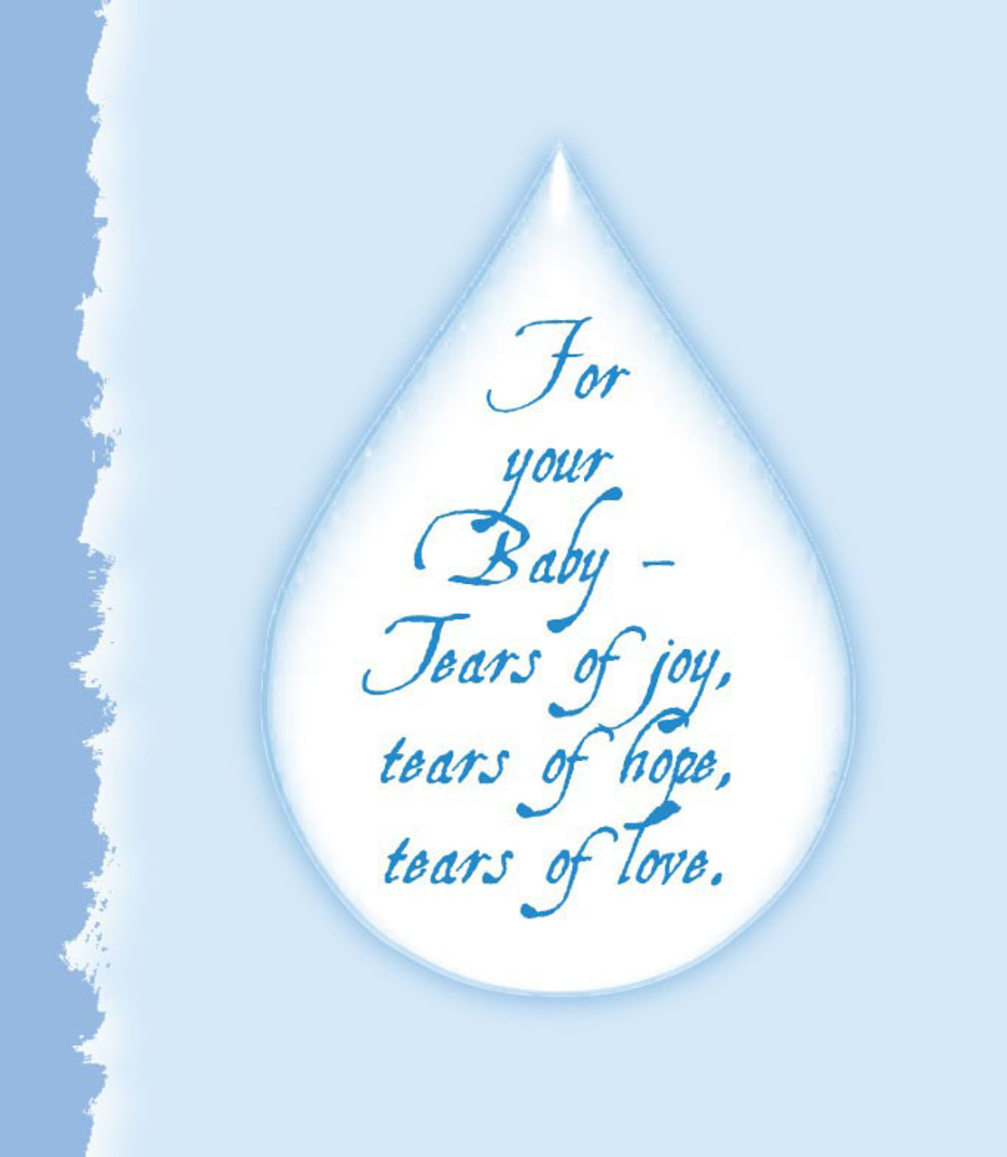 Baby Boy Card - Included with this item